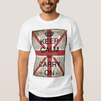Keep Calm And Carry On T Shirt Top Short Sleeve