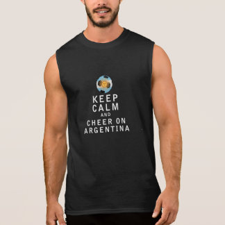 Keep Calm and Cheer On Argentina Sleeveless Tee