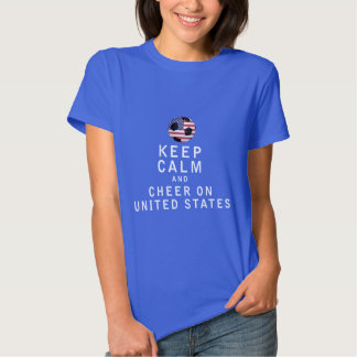 Keep Calm and Cheer On United States T-shirts