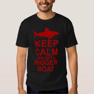 Keep Calm and get a Bigger Boat - Shark Attack T-shirt