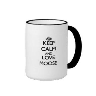 Keep calm and Love Moose Ringer Mug