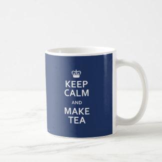 Keep Calm and Make Tea Police Box Blue Mug