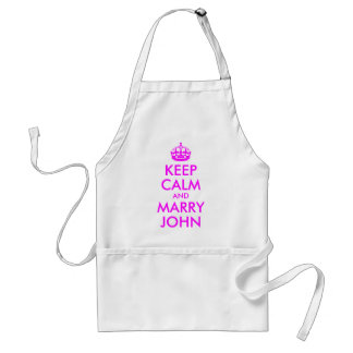 Keep Calm and Marry John Apron
