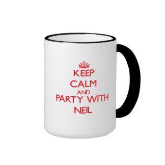 Keep calm and Party with Neil Ringer Mug
