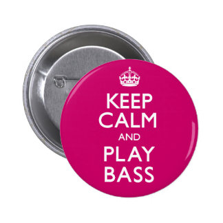 Keep Calm and Play Bass (Carry On) 6 Cm Round Badge