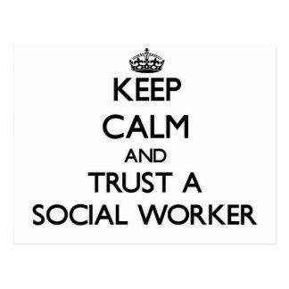 Keep Calm and Trust a Social Worker Postcard