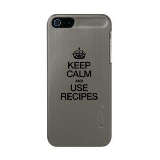 KEEP CALM AND USE RECIPES INCIPIO FEATHER® SHINE iPhone 5 CASE
