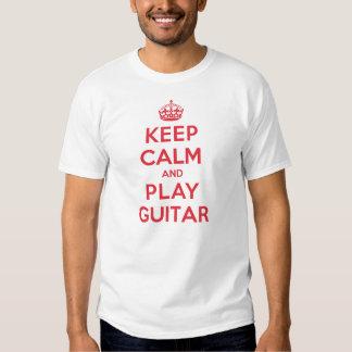 Keep Calm Play Guitar T Shirt