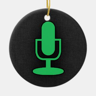 Kelly Green Microphone Round Ceramic Decoration