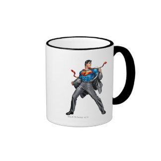 Kent changes into Superman Ringer Mug