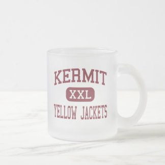 Kermit - Yellow Jackets - High - Kermit Texas Frosted Glass Mug