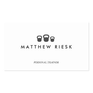 Kettle Bell Personal Trainer Fitness White 2 Pack Of Standard Business Cards