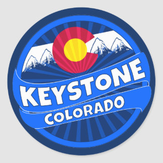 Keystone Colorado mountain burst sticker