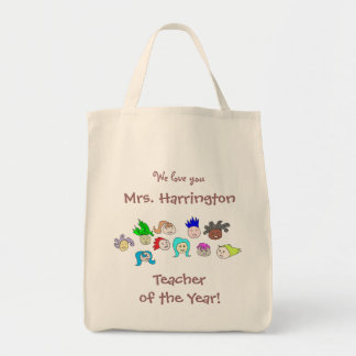 """Kids Art, Personalized """"Teacher of the Year"""" Bag"""