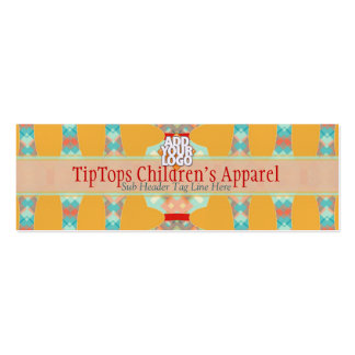 Kids Boutique Fun Colours Mini w/ Logo Pack Of Skinny Business Cards
