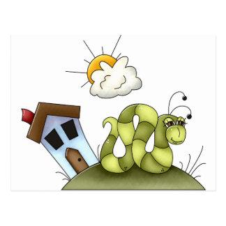 Kids Inchworm House Postcard