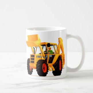 Kid's Yellow Digger Basic White Mug