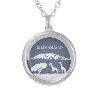 Kilimanjaro (Blue) Round Pendant Necklace