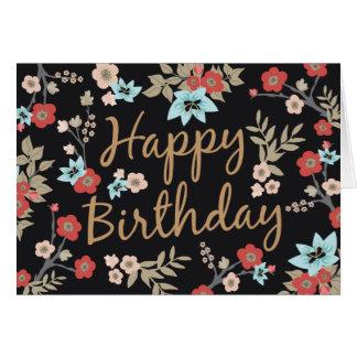 Kimono Print Happy Birthday Greeting Card