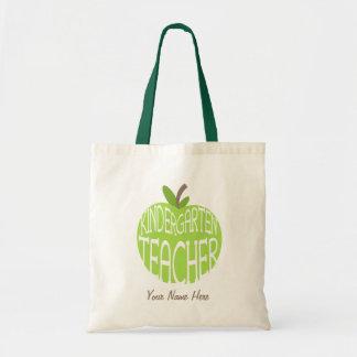 Kindergarten Teacher Bag - Green Apple