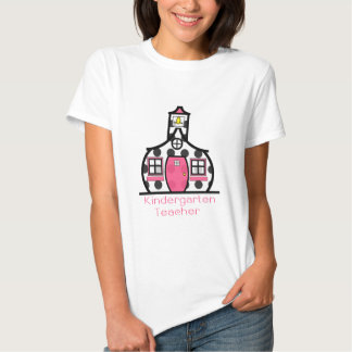 Kindergarten Teacher Polka Dot Schoolhouse Shirt
