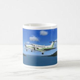 King-Air Turboprop Aircraft Basic White Mug