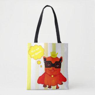 King Bulldog illustration Tote Bag