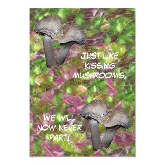 Kissing Mushrooms Invitation