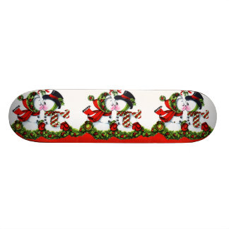 Kissing Snowman Couple Skate Boards