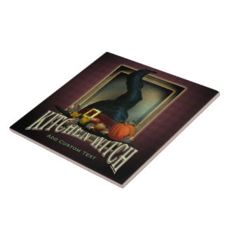 Kitchen Witch Large Square Tile