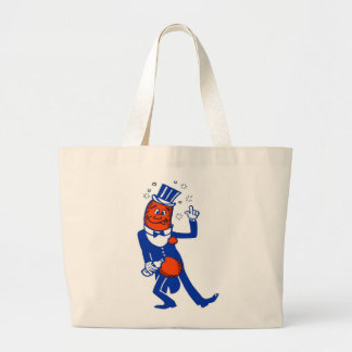 Kitsch Vintage Drunk Hot Dog Jumbo Tote Bag