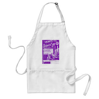 Kitsch Vintage Toy Gigantic Space City Standard Apron