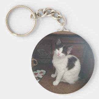 Kitty Fun! Basic Round Button Key Ring