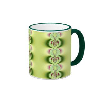 Kiwi Fine Fractal Art Ringer Mug