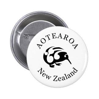 KIWI New Zealand /Aotearoa  national bird 6 Cm Round Badge