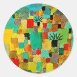 Klee - Southern (Tunisian) Garden Round Sticker