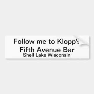 Klopp's Fifth Avenue Bar bumper sticker