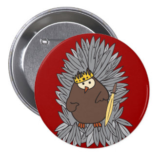 Knight Dispute Hoot Owl 7.5 Cm Round Badge