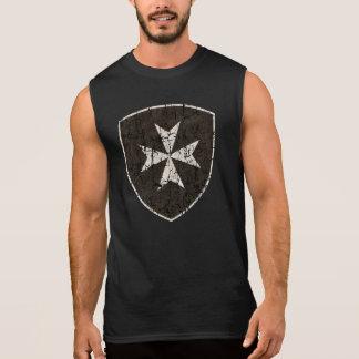 Knights Hospitaller Cross, Distressed Sleeveless T-shirt