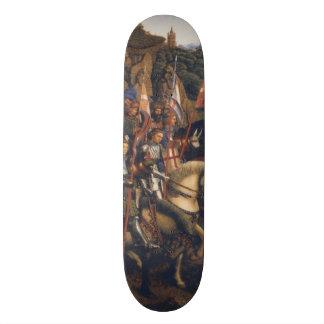 Knights of Christ (Ghent Altarpiece), Jan van Eyck 20.6 Cm Skateboard Deck