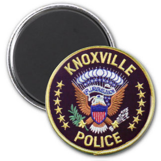 Knoxville Police 6 Cm Round Magnet