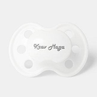 Krav Maga Classic Retro Design Pacifier