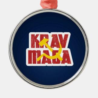 Krav Maga Russia Soviet Union Silver-Colored Round Decoration