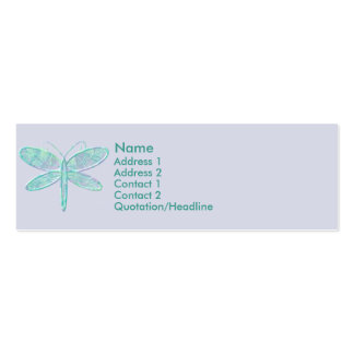 KRW Aqua Dragonfly Profile Card Pack Of Skinny Business Cards
