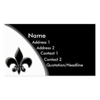 KRW Black Fleur De Lis Two Tone Business Card