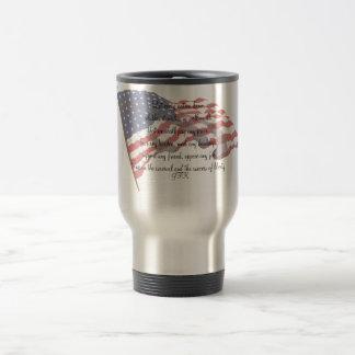 KRW JFK Quote Travel Mug