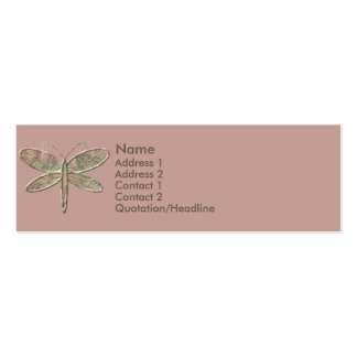 KRW Olive Green and Pink Profile Card Pack Of Skinny Business Cards