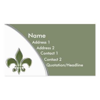 KRW Sage Fleur De Lis Two Tone Business Card