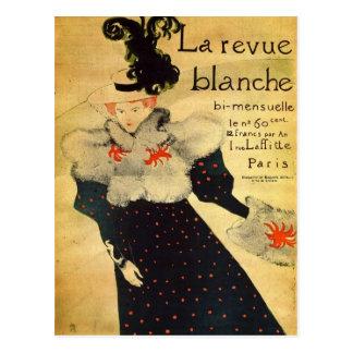 La reveu blanche by Toulouse-Lautrec Postcard