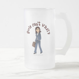Lady CEO in Business Suit Frosted Glass Mug